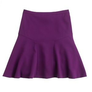 J. Crew Purple Plaza Crepe Skirt